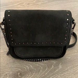 Rebecca Minkoff Black Suede Leather Crossbody